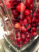 Cranberries in the beaker