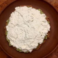 Layer Three: sour cream and cream cheese