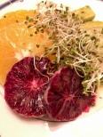 Blood orange, orange, avocado, sprouts