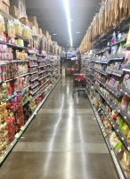 One of many aisles in the Asian market