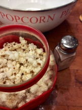 Freshly popped corn in the Popcorn Popper